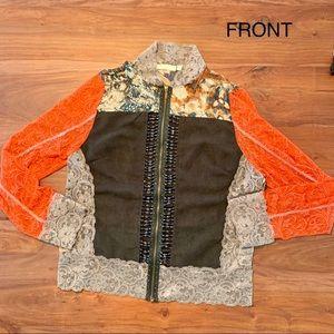 Jackets & Blazers - ❇️ Lace and Suede Jacket Unique design